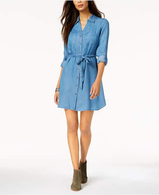 Style&Co. Style & Co Tie-Belt Shirtdress, Created for Macy's