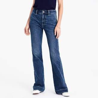 J.Crew Petite wide-leg trouser jean in Tahoe wash