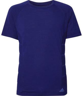 adidas Sport - Primeknit Wool-Blend T-Shirt - Blue