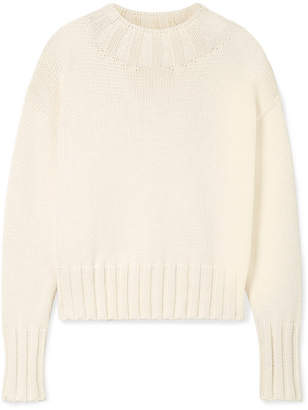 The Row Gracie Oversized Cotton-blend Sweater - Cream