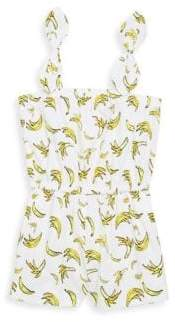 Milly Minis Toddler's, Little Girl's& Girl's Banana-Print Romper
