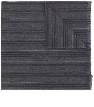 Ermenegildo Zegna embroidered knitted scarf