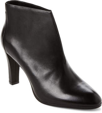Tahari Black Meredith Leather Ankle Booties