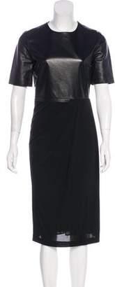 Gucci Leather Midi Dress w/ Tags