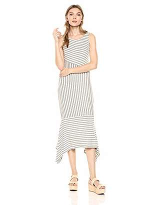 Ella Moss Women's Kaylee Striped Drape Hem Dress