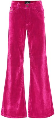 Marc Jacobs High-rise flared velveteen jeans