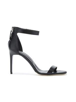 Oscar de la Renta Black Leather Ange Sandals