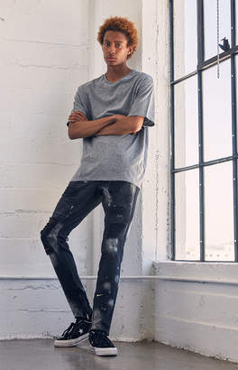 Pacsun Stacked Skinny Ripped Bleach Jeans
