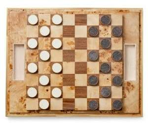 AERIN Shagreen Checkers Set