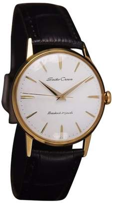 Seiko Crown Gold Plated Manual 34mm Men Dress Watch 1960