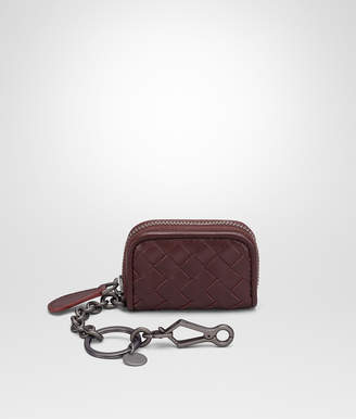 Bottega Veneta DARK BAROLO INTRECCIATO NAPPA KEY RING