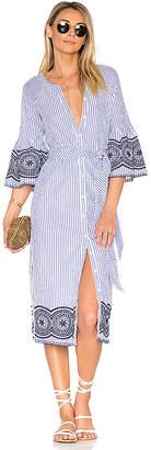 Tularosa x REVOLVE Halo Midi Dress in Blue $238 thestylecure.com