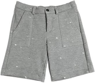 N°21 (ヌメロ ヴェントゥーノ) - N°21 Destroyed Cotton Sweat Shorts