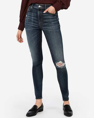 Express Super High Waisted Eco-Friendly Ripped Jean Leggings