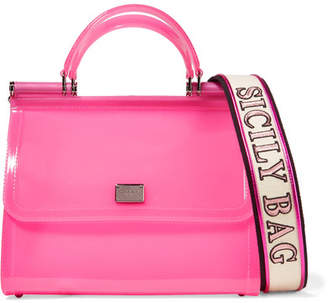 Dolce & Gabbana Sicily Large Neon Pvc Tote - Pink