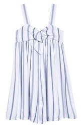 Treasure & Bond Stripe Tie Front Sundress