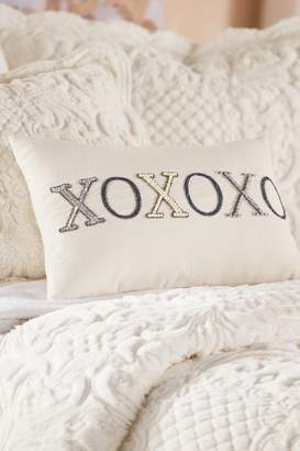 Soft Surroundings Hugs and Kisses Embellished Pillow