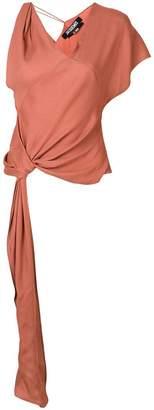 Jacquemus wrap-around blouse