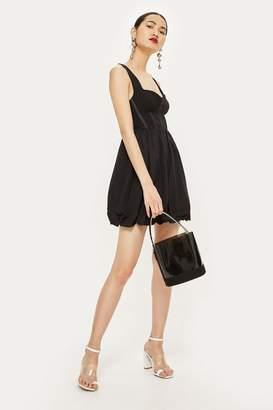 Topshop Corset Puffball Mini Dress
