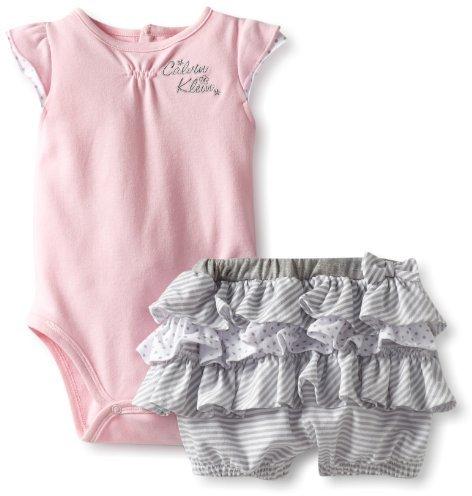 Calvin Klein Baby-Girls Infant Bodysuit with Shorts