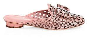 Salvatore Ferragamo Women's Sciacca Lasercut Leather Slides Sandals