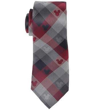 Cufflinks Inc. Mickey Mouse Red Blue Plaid Tie