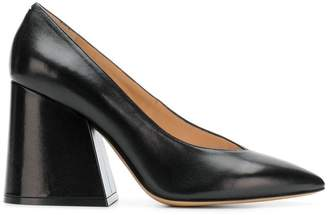 Maison Margiela flare heel pointed pumps