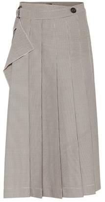 Joseph Fleet checked pleated midi skirt