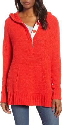Caslon Beachy Hooded Knit Sweater