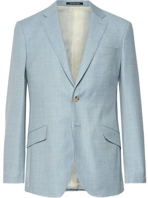 Richard James Light-Blue Seishin Slim-Fit Mélange Wool-Hopsack Suit Jacket