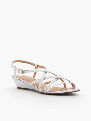 Talbots Capri Leather Sandals - Metallic