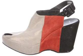 Thierry Rabotin Suede Slingback Wedges