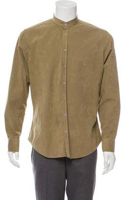 Etro Faux Suede Button-Up Shirt