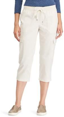Chaps Women's Twill Straight-Leg Capris