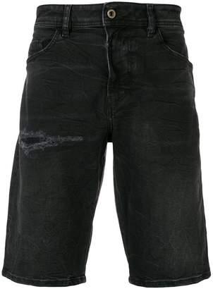 Diesel ripped denim shorts