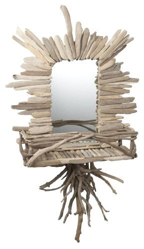 Lazy Susan Natural Driftwood Wall Mirror