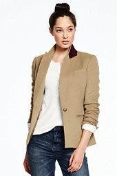 Lands' End Women's Boyfriend Blazer-Camel $195 thestylecure.com
