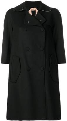 No.21 button fastened loose coat