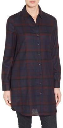 Women's Nordstrom Collection Plaid Wool Flannel Tunic $249 thestylecure.com