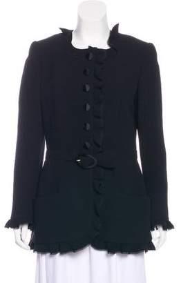 Valentino Structured Button-Up Jacket