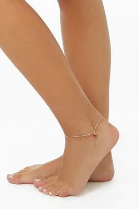 Forever 21 Cherry Charm Anklet
