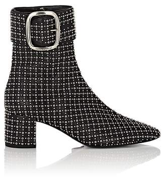 Saint Laurent Women's Joplin Studded Leather Ankle Boots