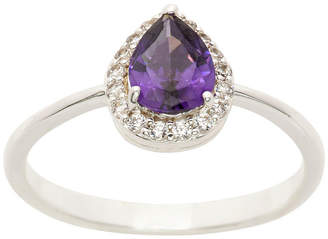 SPARKLE ALLURE Sparkle Allure Ring Box Test Womens 1 CT. T.W. Lab Created Purple Pure Silver Over Brass Cocktail Ring