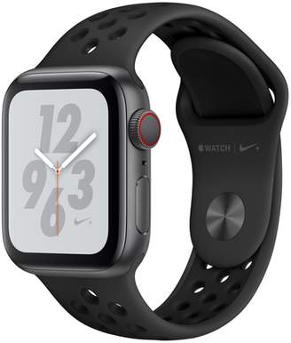 Apple AppleWatch Nike+ Series4 GPS+Cellular, 40mm Space Gray Aluminum Case with Anthracite/Black Nike Sport Band