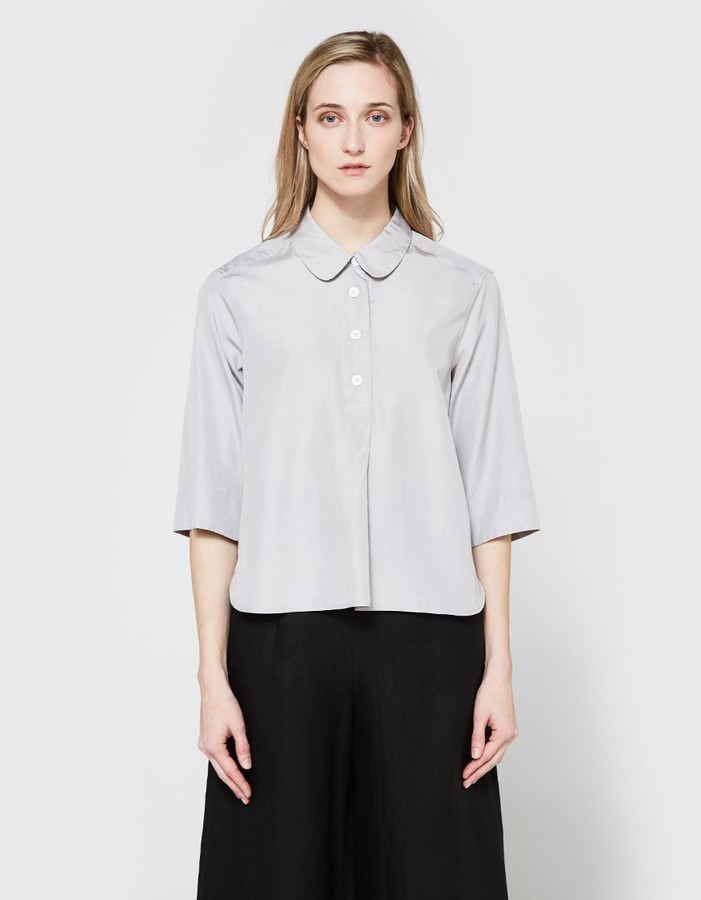 Margaret HowellSummer Pull On Shirt Pale Grey