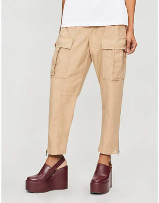 3.1 Phillip Lim Pocket-embellished high-rise straight cotton cargo trousers