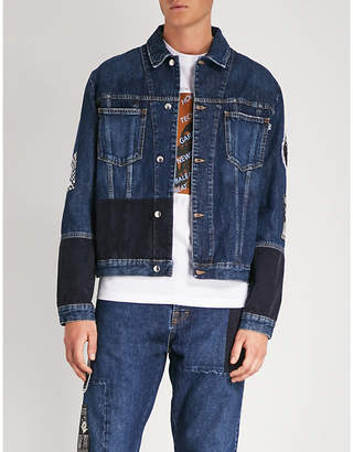 McQ Acid Bunny denim and corduroy jacket