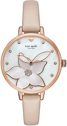 Orange flower metro watch $195 thestylecure.com