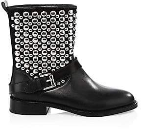 Rebecca Minkoff Women's Saida Moto Leather Boots