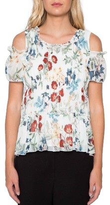 Women's Willow & Clay Smocked Cold Shoulder Top $89 thestylecure.com